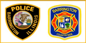 Barrington Police-Countryside Fire Depts logos